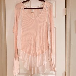 Free People thermal long sleeve top size M